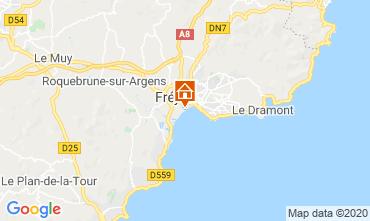 Map Fréjus Studio apartment 78950