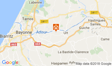 Map Bayonne Self-catering property 13612