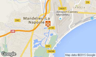 Map Mandelieu la Napoule Studio apartment 40533