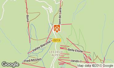 Map Les 2 Alpes Apartment 1171