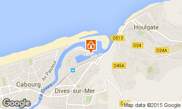 Map Cabourg Apartment 10780