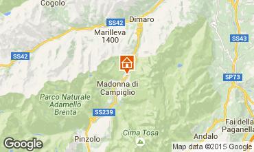 Map Madonna di Campiglio Flat 49968