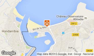 Map Hendaye Apartment 99522