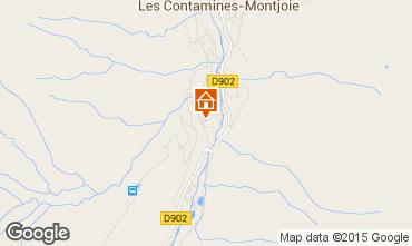 Map Les Contamines Montjoie One-room studio flat 35075