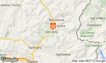 Map Les Gets Chalet 80003
