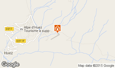 Map Alpe d'Huez Studio apartment 80013
