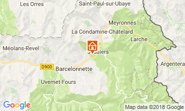 Map Jausiers Chalet 113520