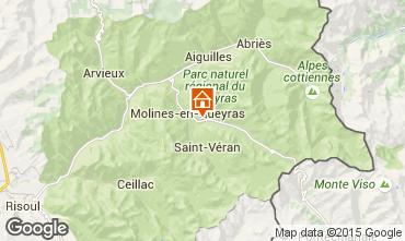 Map Molines Saint-Véran Apartment 28786