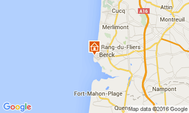Map Berck-Plage Studio apartment 78213