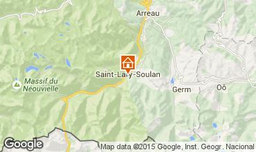 Map Saint Lary Soulan Studio apartment 4436