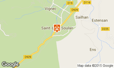 Map Saint Lary Soulan Studio apartment 4436