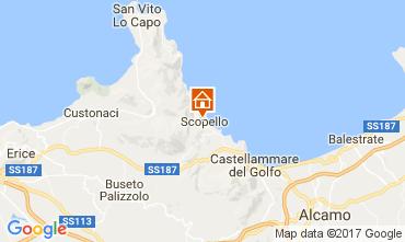 Map Scopello Apartment 107603