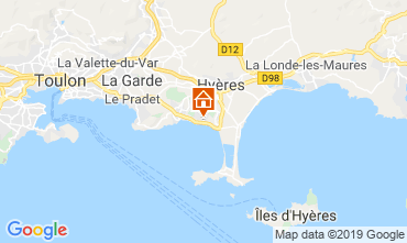Map Carqueiranne Apartment 119054