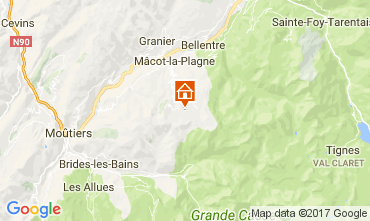 Map La Plagne Apartment 112453