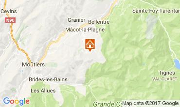 Map La Plagne Apartment 112453