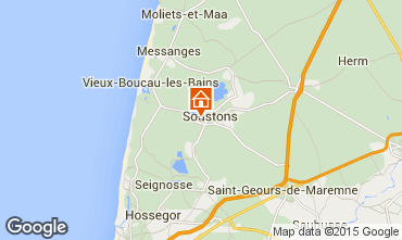 Map Soustons Villa 77329