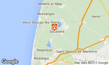 Map Soustons Villa 77329