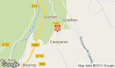 Map Saint Lary Soulan Self-catering property 61378
