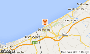 Map De Panne Apartment 96357