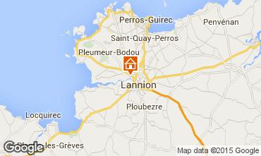 Map Lannion Studio apartment 11735