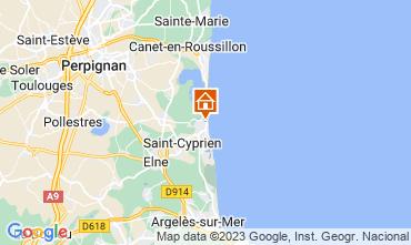 Map Saint Cyprien Plage Studio apartment 55227