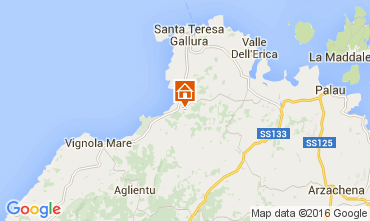 Map Santa Teresa di Gallura Apartment 99030