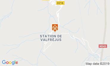 Map Valfréjus Apartment 49989