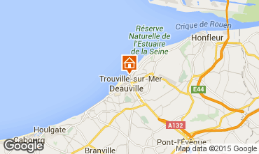 Map Trouville sur Mer Apartment 10801