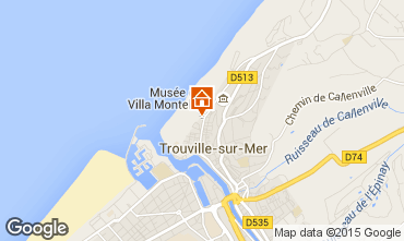 Map Trouville sur Mer Apartment 10801