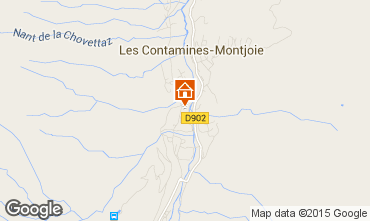 Map Les Contamines Montjoie Flat 950