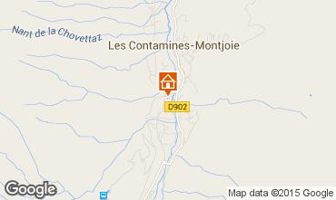 Map Les Contamines Montjoie Apartment 950