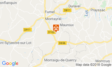 Map Tournon d'Agenais Self-catering property 117004