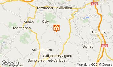 Map Sarlat Self-catering property 30246