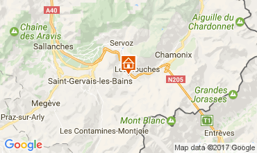 Map Chamonix Mont-Blanc Apartment 108076