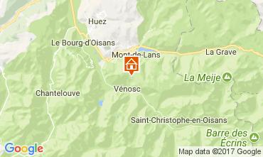 Map Les 2 Alpes Apartment 111830