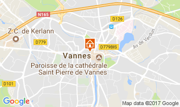 Map Vannes Apartment 78927