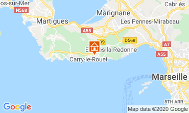 Map Carry le Rouet Villa 110191