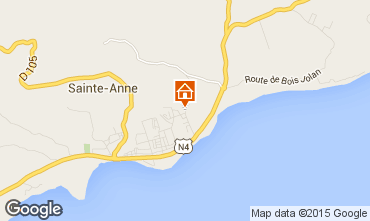 Map Sainte Anne (Guadeloupe) Self-catering property 71841