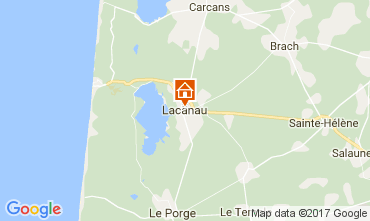 Map Lacanau Villa 110591
