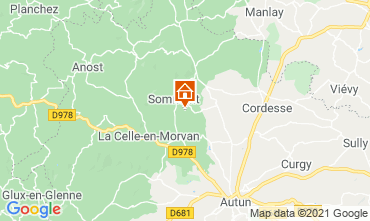 Map Autun Self-catering property 112325
