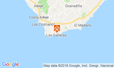 Map Costa del Silencio Studio apartment 117562