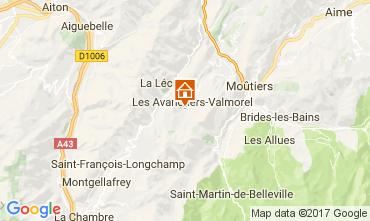 Map Valmorel Apartment 112441
