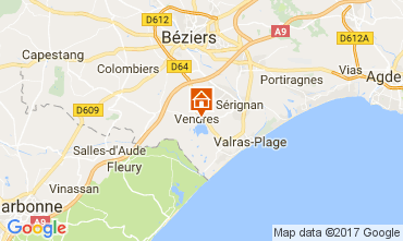 Map Valras-Plage Villa 112635