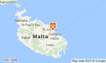 Map Sliema Apartment 115432