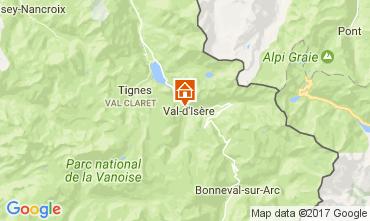 Map Val d'Isère Studio apartment 3337