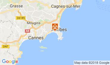 Map Juan les Pins Apartment 10385