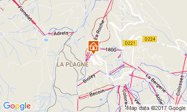 Map La Plagne Apartment 111565