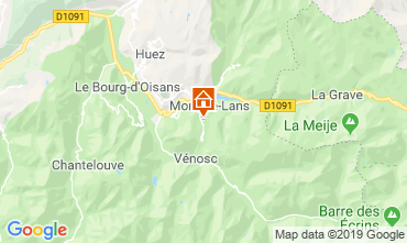 Map Les 2 Alpes Chalet 119953