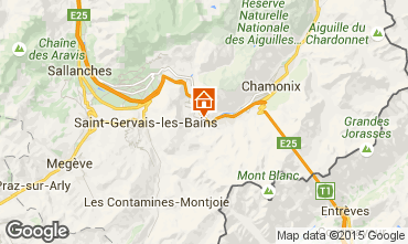 Map Les Houches Studio apartment 62468
