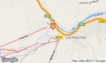Map Les Houches Studio apartment 62468